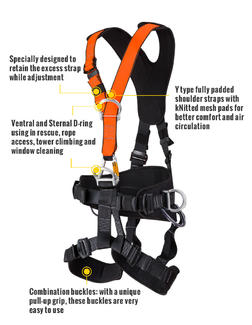 High quality rescue full body harness HT-327